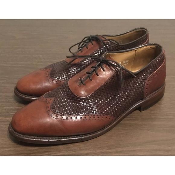 Allen Edmonds Hampstead Woven Leather Shoe 9.5D